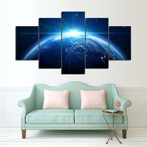 5  Cascade Blue Earth Canvas Wall Painting Picture Home Decoration Without Frame - $17.98