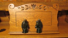 "PAIR VINTAGE AVON HORSE HEAD BOTTLES - ""HITCHING POST"" - 1970'S - $11.95"