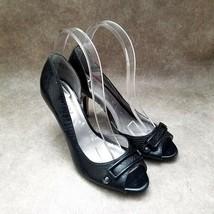 """Anne Klein Womens Lars  Size 8 Black  Peep Toe D'Orsay 3.5"""" Heels Pumps - $21.99"""