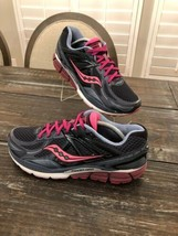SAUCONY Echelon 5 Running Gym Training Shoes Grey Pink Womens Size 11 - £37.68 GBP