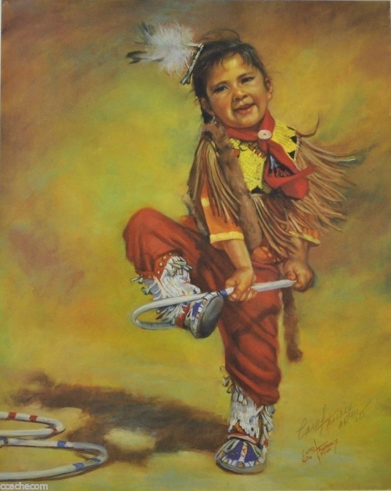 Primary image for 'Josie Dances the Hoops' Signed Limited Ed. Art Print by Carol Theroux 15x12 S/N