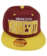 Minnesota Men's Snapback Baseball Cap (Burgundy/Gold) - $12.95