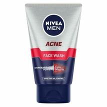 NIVEA Men Acne Face Wash for Oily &Acne Prone Skin, Fights Oil & Dirt, 100g - $9.79
