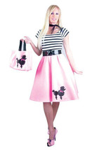 PINK POODLE DRESS ADULT HALLOWEEN COSTUME SMALL - $30.39