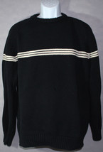 Mens RALPH LAUREN POLO POLO JEANS CO. Black Knit PULLOVER SWEATER w/ PAT... - $39.59