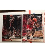 2-1999 Upper Deck Air of Greatness 144 & 148 Michael Jordan Basketball M... - $8.95