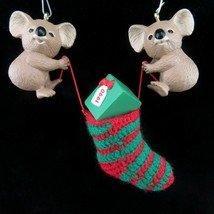 Vintage Koala Christmas Stocking Ornament Hallmark Keepsake 1990 image 2