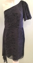 Juicy Couture Black One Shoulder 100% Silk Sz. 4 Jr Reptile Dress Shear ... - $74.76