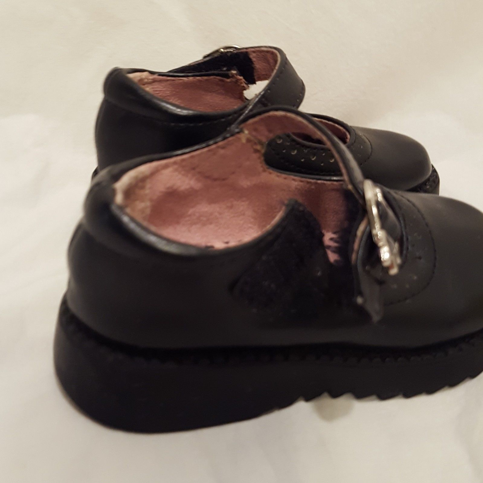 Shoes Black Mary Jane Janes Dress Shoes Circo  Size 5 Toddler Girls Hooks Loops