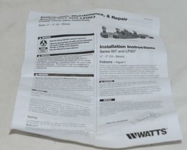 Watts 6006076 3/4 1 Inch Double Check Valve Total Repair Kit Lead Free image 2
