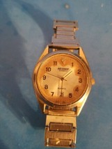 Vintage Nelsonic Diamond Quartz Men Watch With Spaidel Usa Band.Untested.As Is. - $9.49