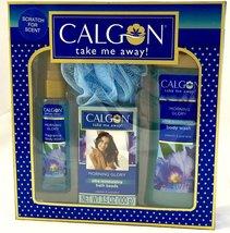 Calgon Take Me Away Morning Glory Bath Set 4 Piece Gift Set New in Box  - $24.99