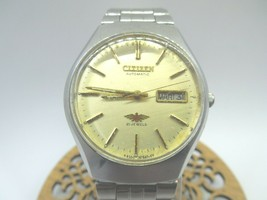 Beautiful Vintage watch men's 1980 Citizen automatic day/date 21 jewel - $60.78