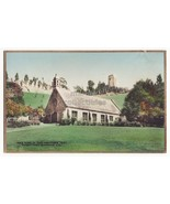 GLENDALE CA, WEE KIRK OF HEATHER, FOREST LAWN RPPC hand colored photo postcard - $3.95