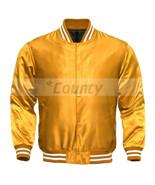 Letterman Baseball College Varsity Bomber Quality Jacket SportsWear Gold... - $49.98+