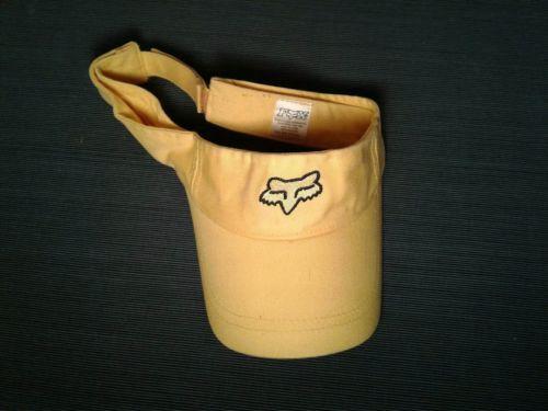 Yellow Fox Racing Strapback Visor Cap Hat (hb7)