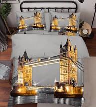 3D London Bridge Bed Pillowcases Quilt Duvet Cover Set Single Queen King Size AU - $90.04+