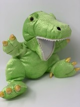 "Mary Meyer 2001 Plush Happy Dino Green Shimmer Full Body Hand Puppet 12"" - $14.85"