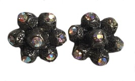 Vintage sweater pair pin brooches rhinestone - $35.57