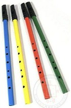Classic Tin Penny Whistle Flute 6 Hole Irish Blue Green Red Yellow by Sc... - $6.87