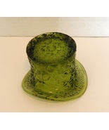 Vintage FENTON Green Depression Glass Daisy & Button Top Hat Design Cand... - $9.99