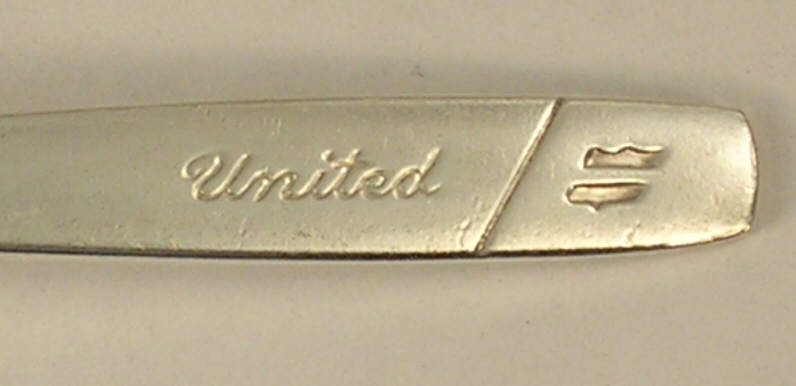United Airlines Silverplate Fork by International Silver Company