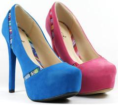 Velvet Almond Toe Hidden Platform Pump Dress Shoes Qupid Marquise-05 - $14.99