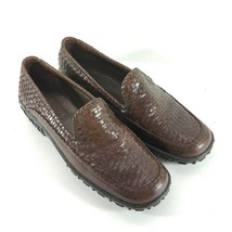 Cole Haan Country Womens 8.5 B Loafers Adrien F9425 Brown Woven Leather ... - $24.87