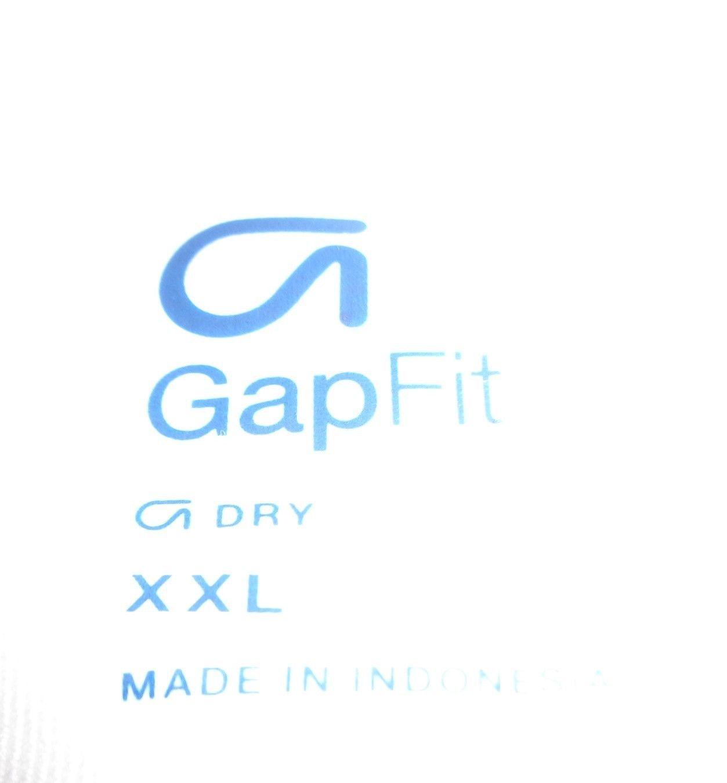 GAP Fit Dry White Multi-color GO! T-Shirt Sz XXL NWOT image 5