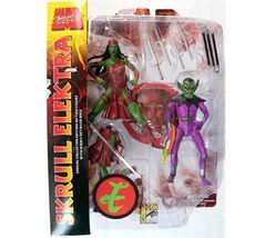 Marvel Select: Skull & Elektra 2-Pack Action Figure SDCC 09 Exclusive NEW! - $39.99
