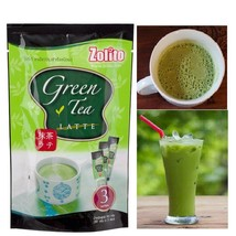 Zolito Green Tea Latte Instant Powder Natural Thai Healthy Product 3 sac... - $7.95