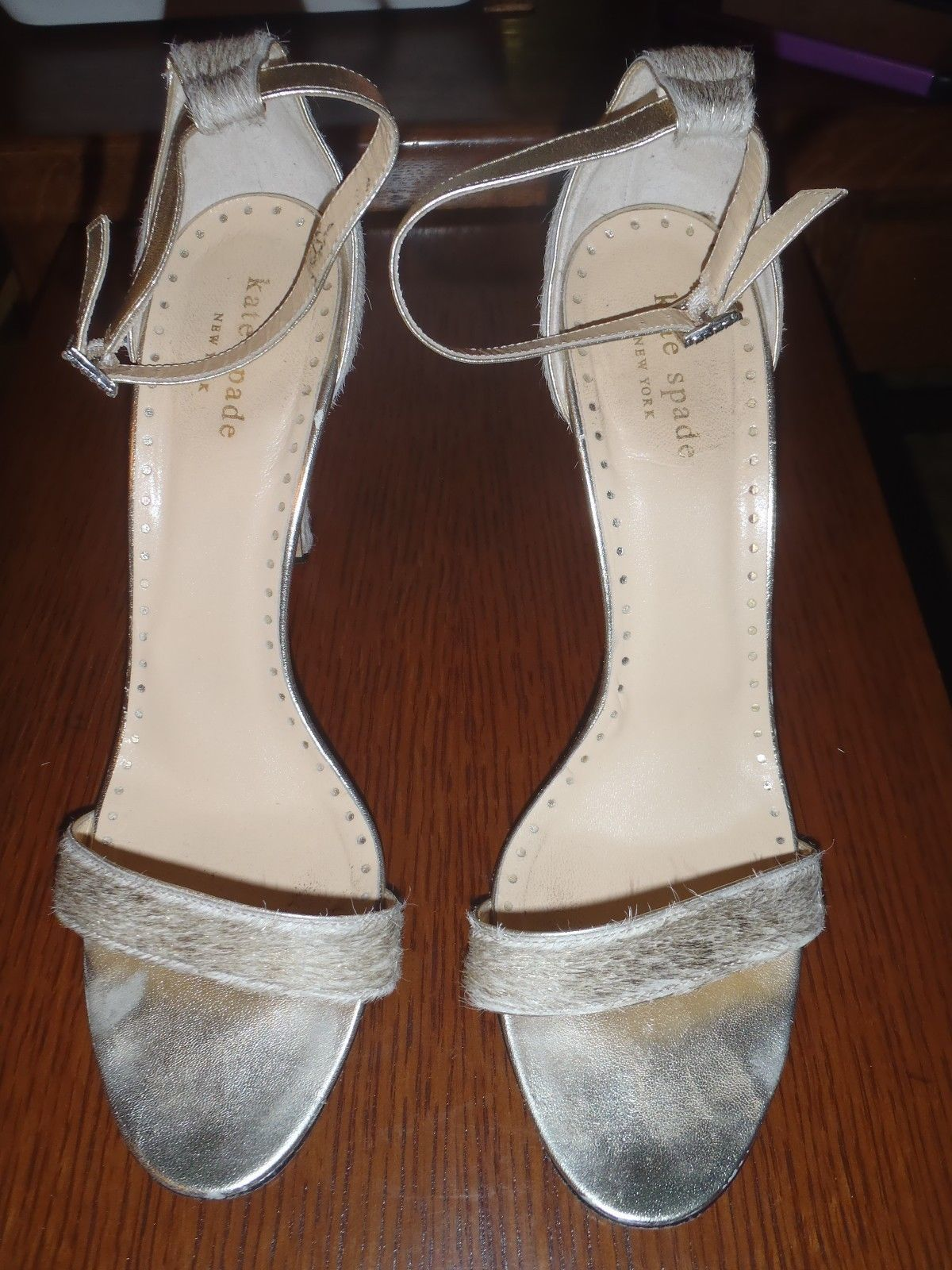 c54a4f83b58d KATE SPADE Size 9 B Gold Hedy Pony Hair and 50 similar items. 57