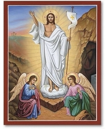 """Christ Victorious Icon 4.5"""" x 6"""" Print With Lumina Gold - $19.95"""
