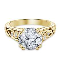 Womens Designer Diamond Engagement Ring 14k Yellow Gold Over 925 Sterlin... - $71.99