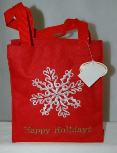 Transpac Imports Inc W1195 Tii Collections Fiber Optic Red Happy Holiday Tote