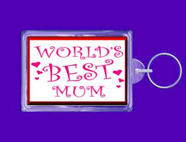 worlds best mum keyring  handmade in uk from uk made parts keyring, keyfob