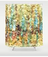 Shower curtains, Mosaic Curtain, modern shower curtain Abstract 22 L.Dumas - $69.99