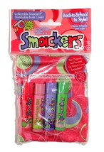LIP SMACKER* 5pc Set LIP GLOSS/BALM Bubble Font BOOK COVER Back To Schoo... - $23.99