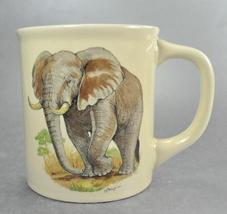 African Elephant hand painted Japan Coffee Mug Cup - $6.75