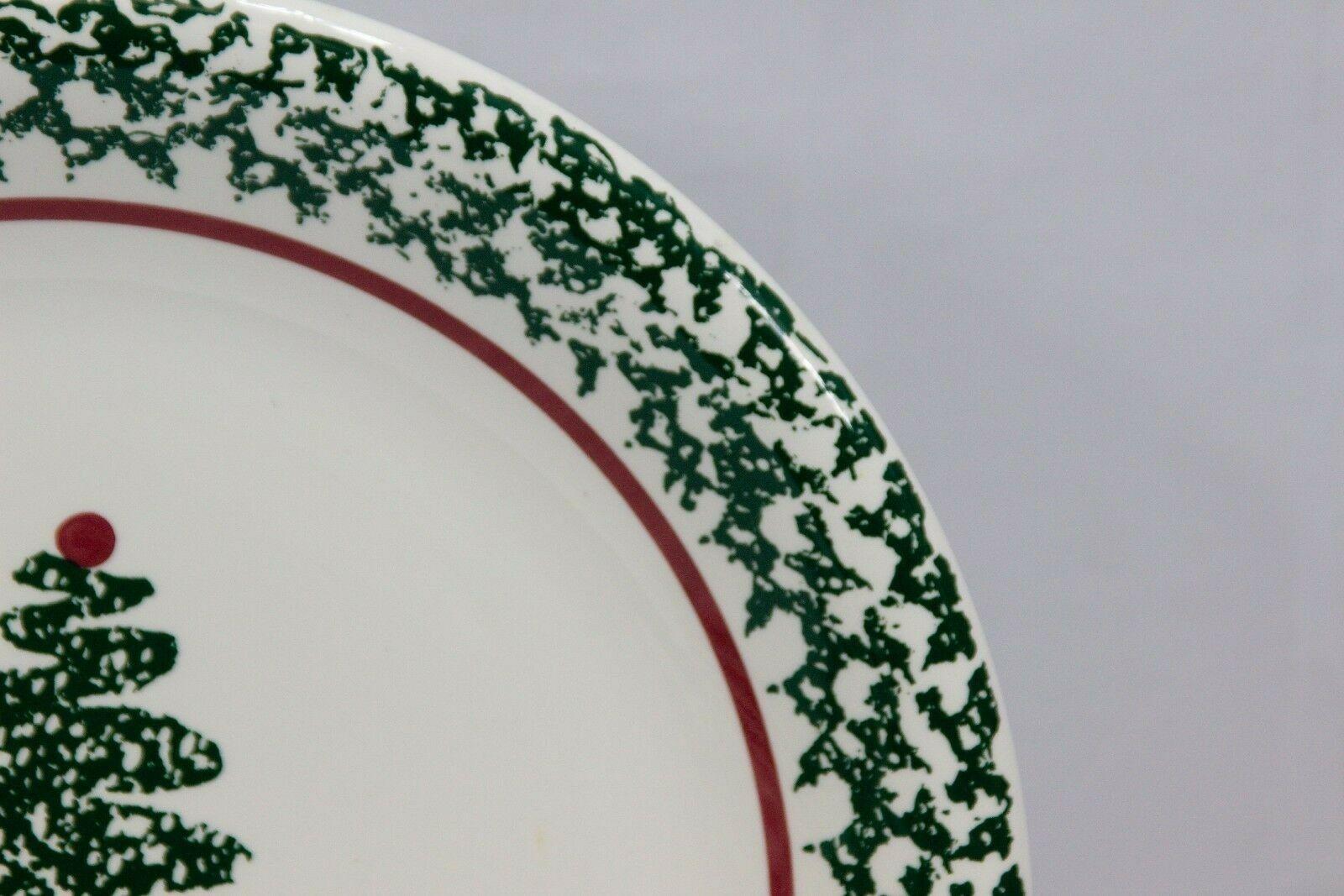 """Furio Xmas Tree Dinner Plates Sponge 10.25"""" Set of 12 image 4"""