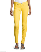 New Womens True Religion Brand Jeans 26 Bright Yellow Skinny Pants Shann... - $56.00