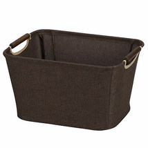 Garment Laundry Storage Carrier Basket Utility Bin Wooden Handle Home Do... - $25.76