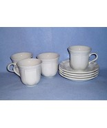 Mikasa French Countryside White F9000 4 Cup and Saucer Sets - $16.99