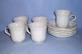 Mikasa French Countryside White F9000 5 Cup and Saucer Sets - $18.99