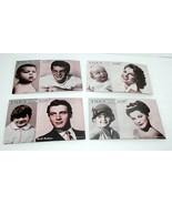 Hollywood Movie Star Fan Cards Rock Hudson Debbie Reynolds Photo Child A... - $19.79
