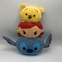 "Disney Tsum Tsum Stackable Pillow 15"" Pooh Ariel & Stitch - $14.84"