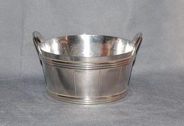 Wilcox Silverplate Co Quadruple Silver Plate Victorian Wooden Tub Bowl - $295.00