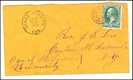 1870 Osage Mission KS Discontinued/Defunct Post Office (DPO) Postal Cover - $9.95