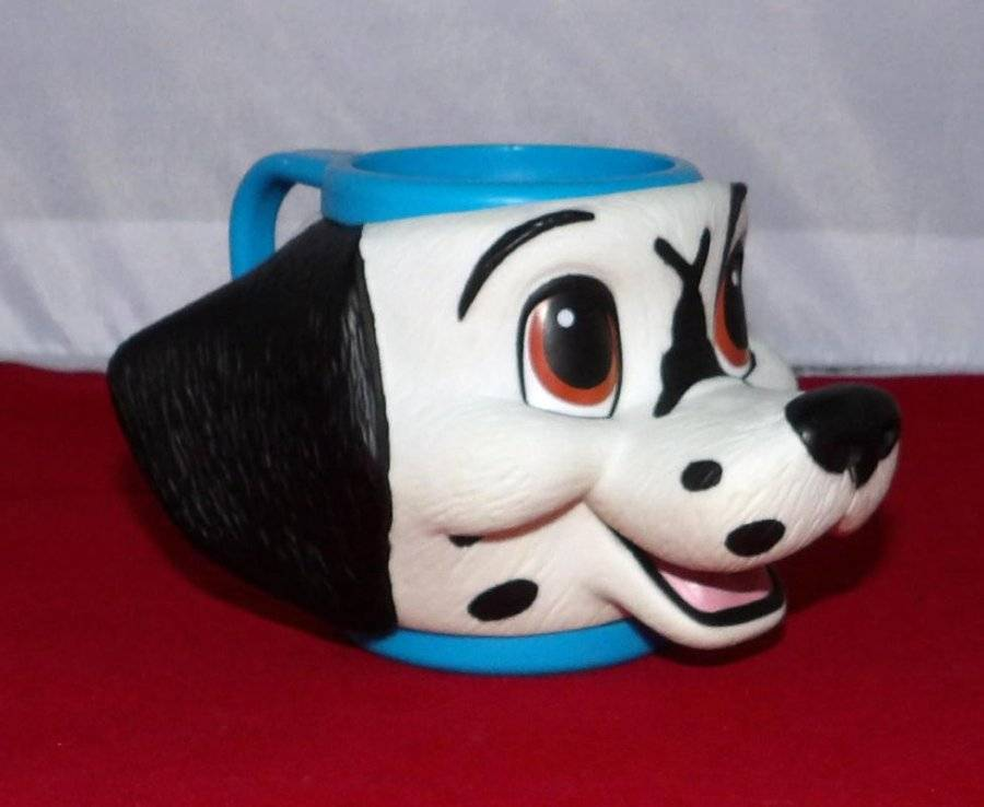 Primary image for DISNEY DALMATIANS Figural Composite Plastic Cup Mug by Applause
