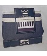 No Jo Dust Ruffle Baby Crib Denim Blue Skirt Chambray Indigo New Package... - $24.74